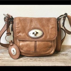 Women's brown leather Fossil handbag, Fossil Purse